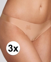 3x huidskleurige sloggi strings voor vrouwen