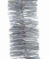 3x kerstboom glitter folie slinger zilver 270 cm
