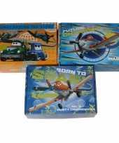 3x kinderkamer oranje blauwe opbergbox opbergdoos set disney planes