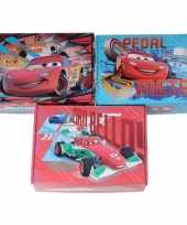 3x kinderkamer rode blauwe opbergbox opbergdoos set disney cars
