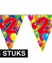 3x leeftijd vlaggenlijnen 2 jaar 10 meter