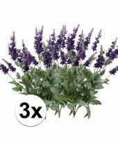 3x luxe lavendel 45 cm kunstplant takken
