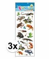 3x poezie album stickers amfibieen