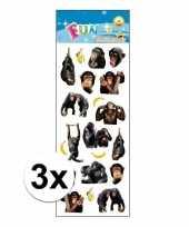 3x poezie album stickers apen