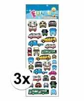3x poezie album stickers bus en auto