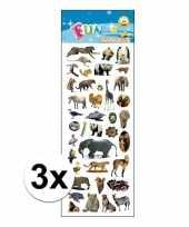 3x poezie album stickers dieren 10107418