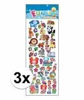 3x poezie album stickers dieren