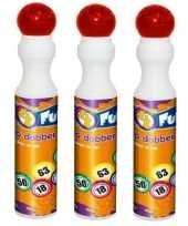 3x ronde rode stippen stift voor bingo 43 ml