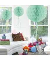 3x stuks decoratiebollen mint 30 cm
