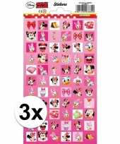 3x velletjes disney stickertjes minnie mouse