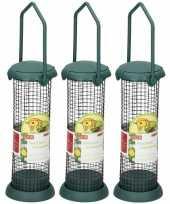 3x vogels bijvoeren voeder silo 22 cm