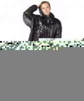 3x zwarte regen ponchos voor volwassenen