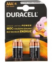 4 alkaline duracell batterijen aaa