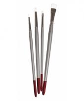 4 nylon penselen voor textielverf