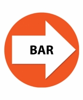 4 stuks oranje pijl en bar sticker