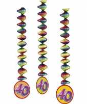 40 jaar decoratie spiralen 9x stuks