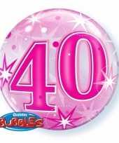 40 jaar folieballon 55 cm met helium 10089066