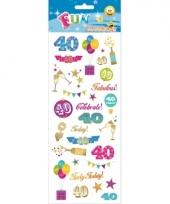 40 jaar geworden stickers