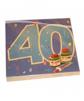 40 jaar servetten