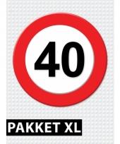 40 jaar verkeersbord versiering xl pakket