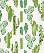 40x papieren servetjes cactus print 33 x 33 cm