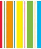 40x papieren servetjes regenboog kleuren print 33 x 33 cm