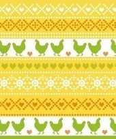 40x pasen thema feest servetjes 33 x 33 cm kip print geel oranje groen