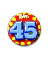 45 jaar button