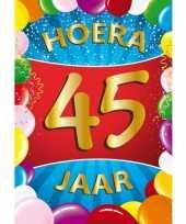 45 jaar thema mega deurposter