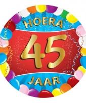 45 jaar verjaardag party viltjes