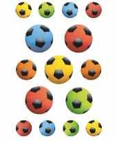 45x gekleurde voetbal stickertjes voor kinderen