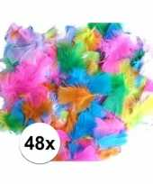 48 hobby veren in diverse kleuren