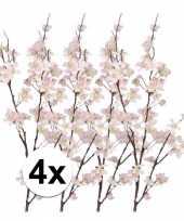 4x appelbloesem kunst tak roze84 cm