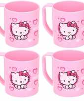 4x hello kitty disney kinder drinkbekers mokken lichtroze