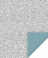 4x kadopapier feest stippen 70 x 200 cm