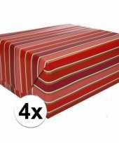 4x kadopapier gestreept type 7 70 x 200 cm