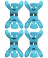 4x kerstkaarten geboortekaartjes ophangen klemmen blauw zonder plakband spijkers schroeven