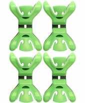 4x kerstkaarten geboortekaartjes ophangen klemmen groen zonder plakband spijkers schroeven