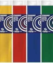 4x knutsel crepe vouw papier basis kleuren voor jongens 250 x 50 cm