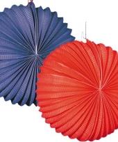 4x lampionnen rood blauw