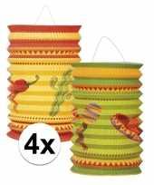 4x stuks mexico thema lantaarns