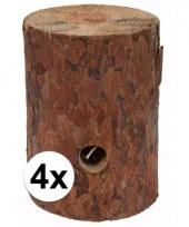 4x zweedse fakkel kaars 20 cm 10092954