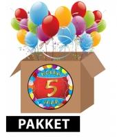 5 jaar party artikelen pakket