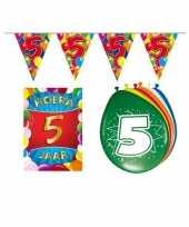 5 jarige jaar feest versiering setje
