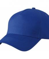 5 panel baseball petjes kobalt blauw