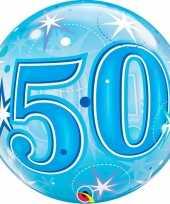 50 jaar folieballon 55 cm met helium 10089056