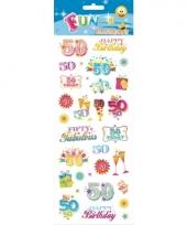 50 jaar geworden stickers