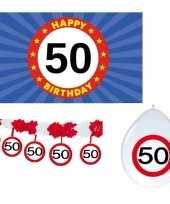50 jaar verjaardag pakket versiering abraham