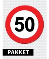 50 jaar verkeersbord versiering pakket