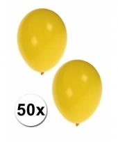 50 stuks gele party ballonnen